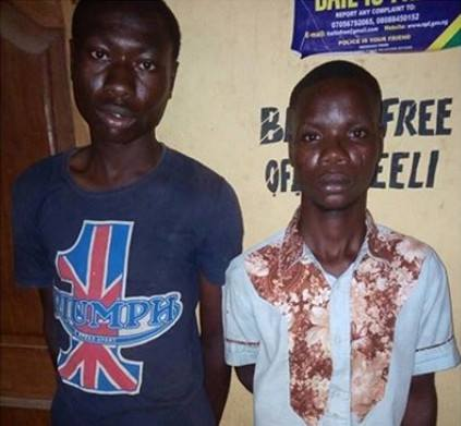 Two teenagers arrested for raping 14-year-old girl in Ogun State